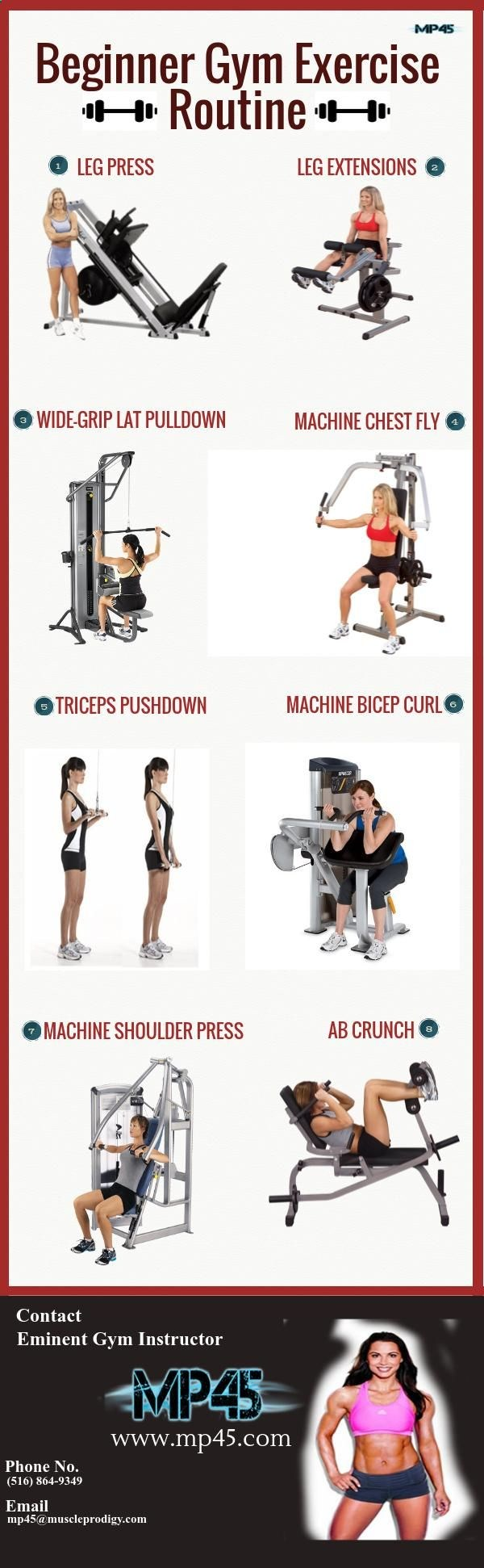 #MP45 gives you a chance to follow online #musclebuildingprogram and highly effective for adult fitness level, including women and men beginners! This gym workout routine has helped hundreds of gym beginners to start and enjoy health fitness workout training sessions.
