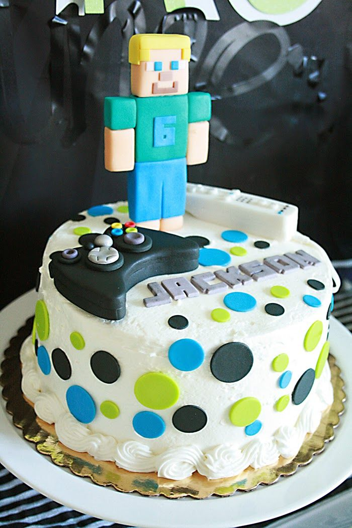 minecraft birthday cake video game birthday cake Darling Darleen