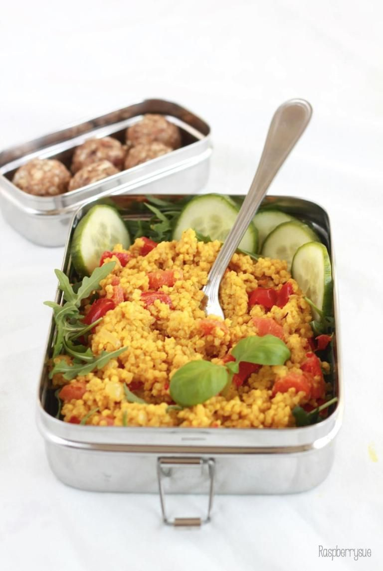 Photo of {Lunch To-go} Curry millet with peppers as a healthy office lunch