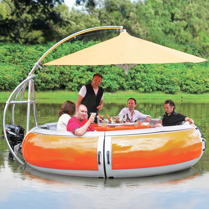 Done and done. Floating BBQ Dining Boat | MoreOutside