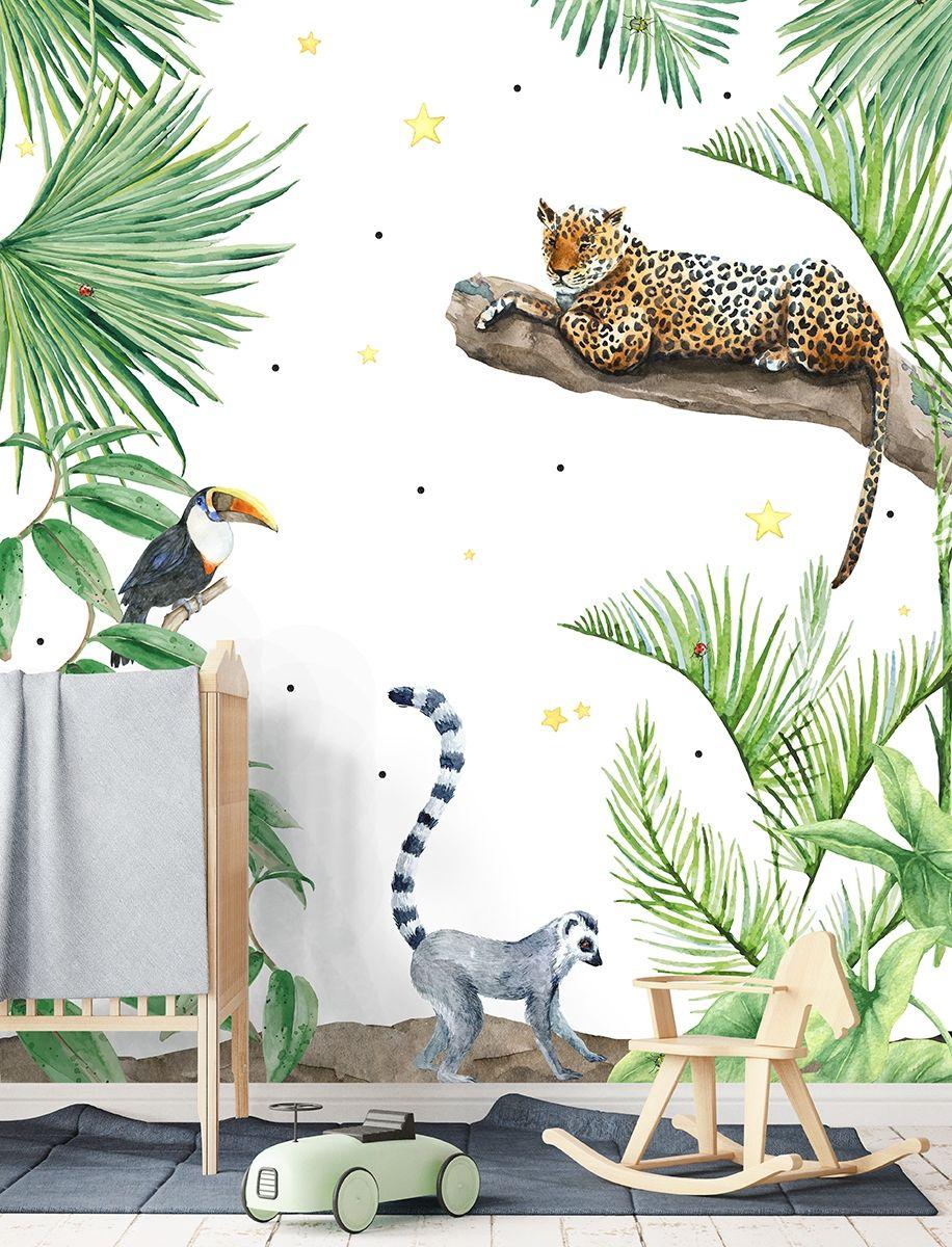 Jungle Dieren Behang Kinderkamer.Dieren Jungle Kids Behang Kinderkamer Behang Babykamer En