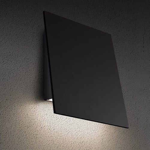 Angled Plane Downlight Outdoor Led Wall Sconce In 2019