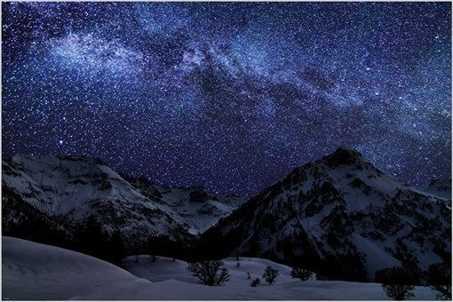 A WINTER NIGHT With MANY STARS Inspirational Photo Poster SKY BEAUTY 24X36 Imac Wallpaper View