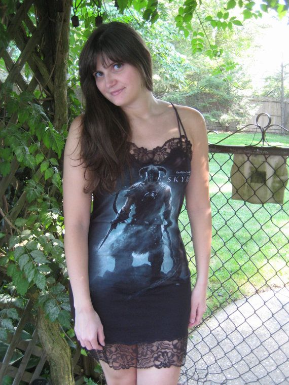 78634bc04f4 Sexy Skyrim Lingerie Chemise by TheVideoGameVixen on Etsy