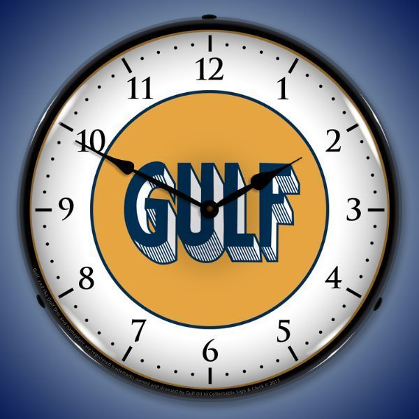 Gulf 1920 Led Lighted Wall Clock 14 X 14 Inches Wall Clock Light Wall Clock Clock