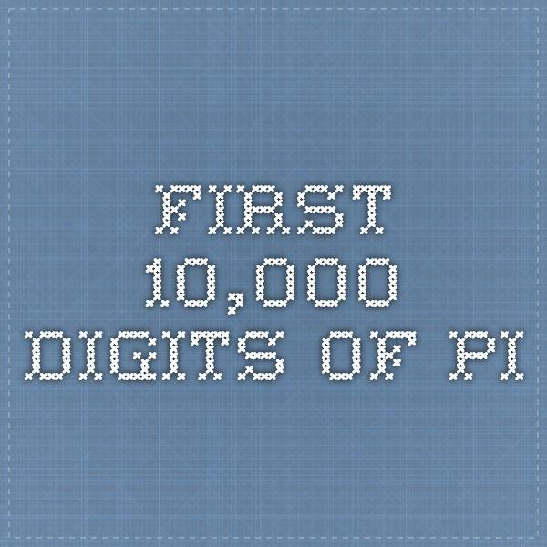 10000 digits of pi