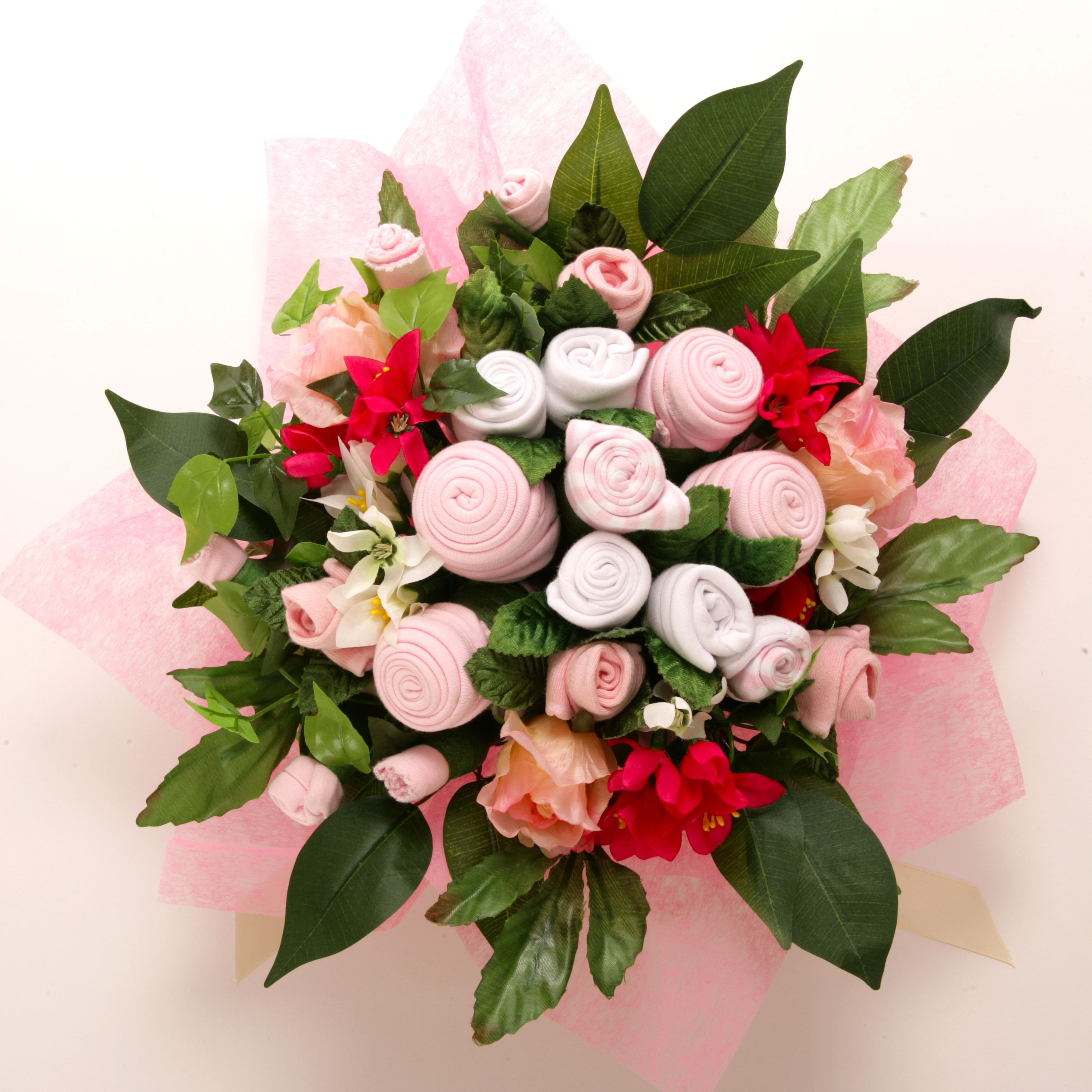 Baby clothes bouquet love it baby shower gifts pinterest babies clothes negle Choice Image