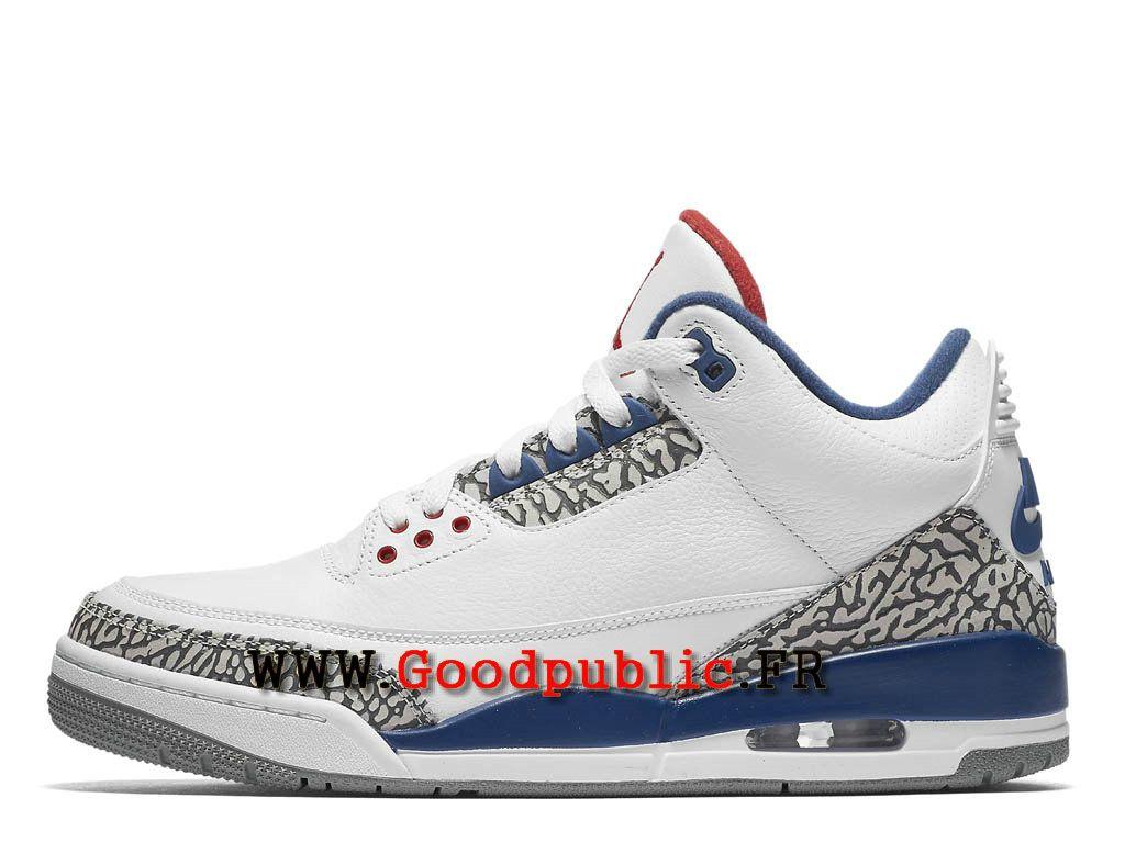Air Jordan 3 Retro True Blue 2016 Chaussures Pour Homme