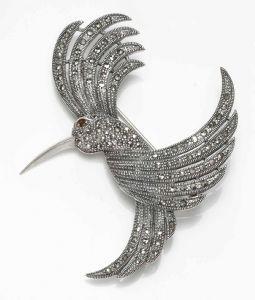 Hummingbird Marcasite Brooch/Pendant