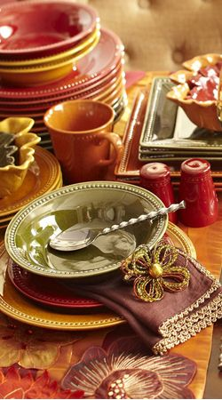 Spice Route Dinnerware in the colors of Fall. & Fall Decor | Fall Autumn Thanksgiving u0026 Harvest | BuyerSelect.com ...
