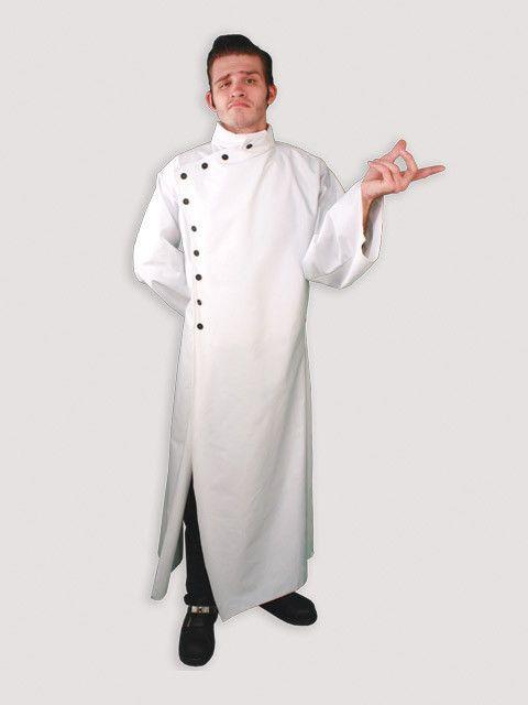 UK Lab Coat Doctors Surgeon Scientist Outfit Fancy Dress Costume White Gown A
