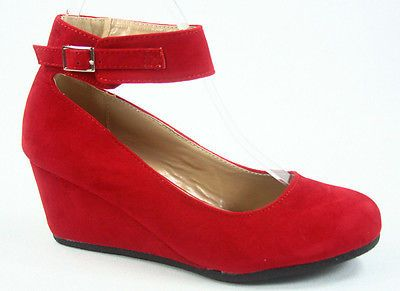 3662fe5532b Women s Cute Causal Round Toe Low Wedge Platform Heel Shoe All Size 5 - 10  NEW