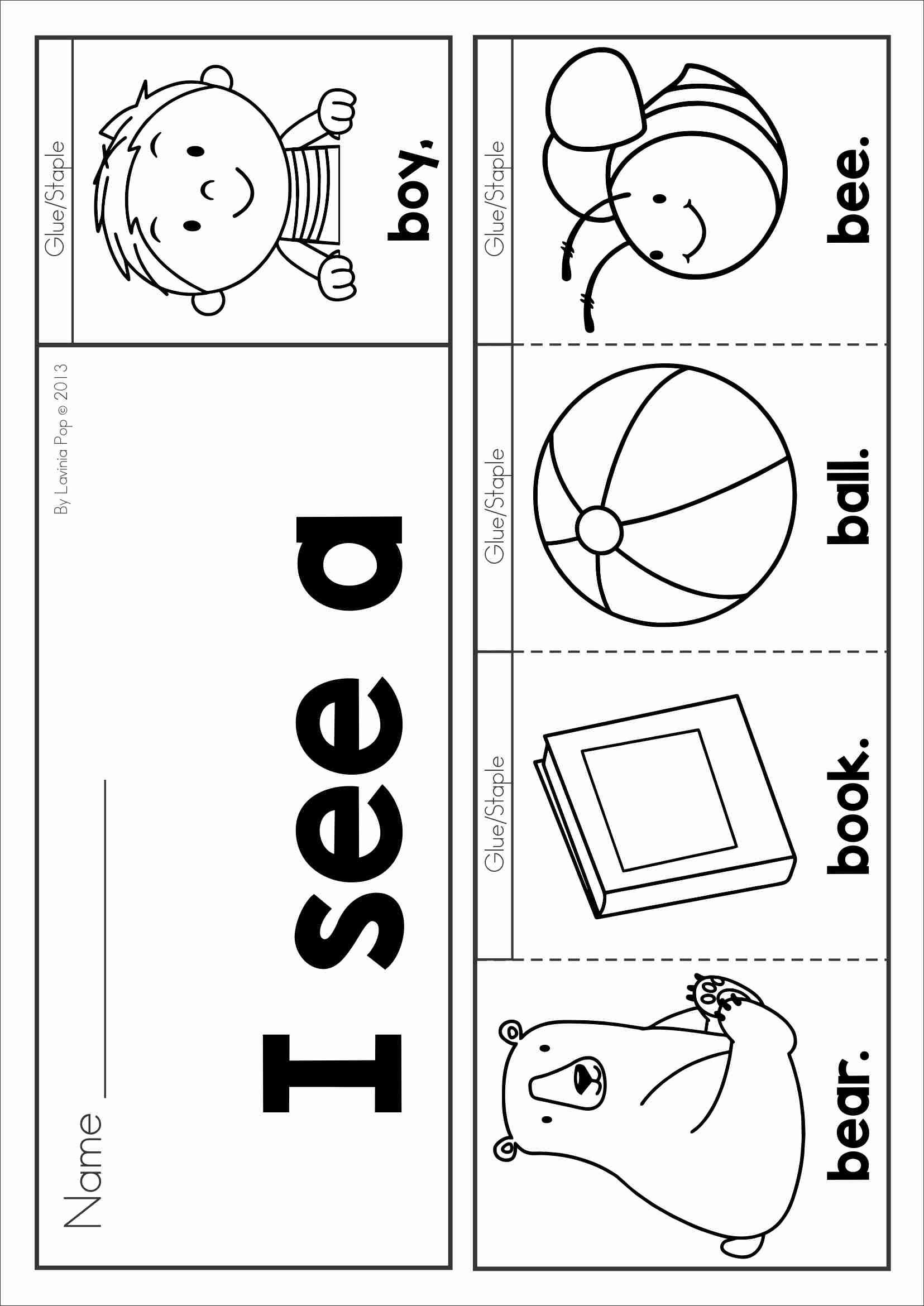 free phonics letter of the week b sight words and beginning sounds flip book in color and black. Black Bedroom Furniture Sets. Home Design Ideas