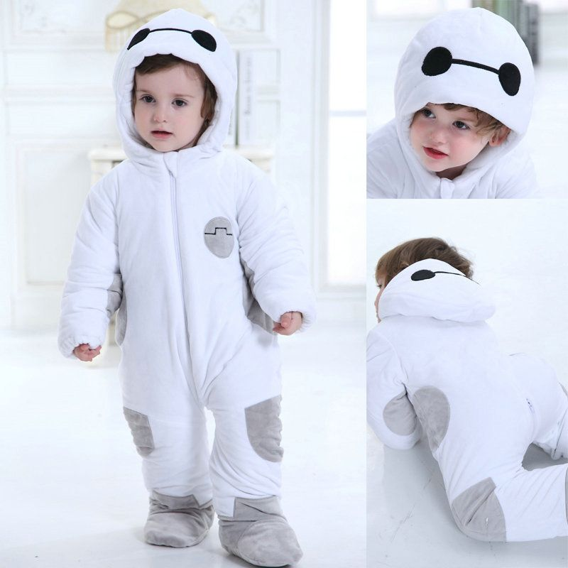 ba310710e94e Big Hero 6 Baymax Cartoon Onesies Pajama Baby Toddler Kigurumi ...