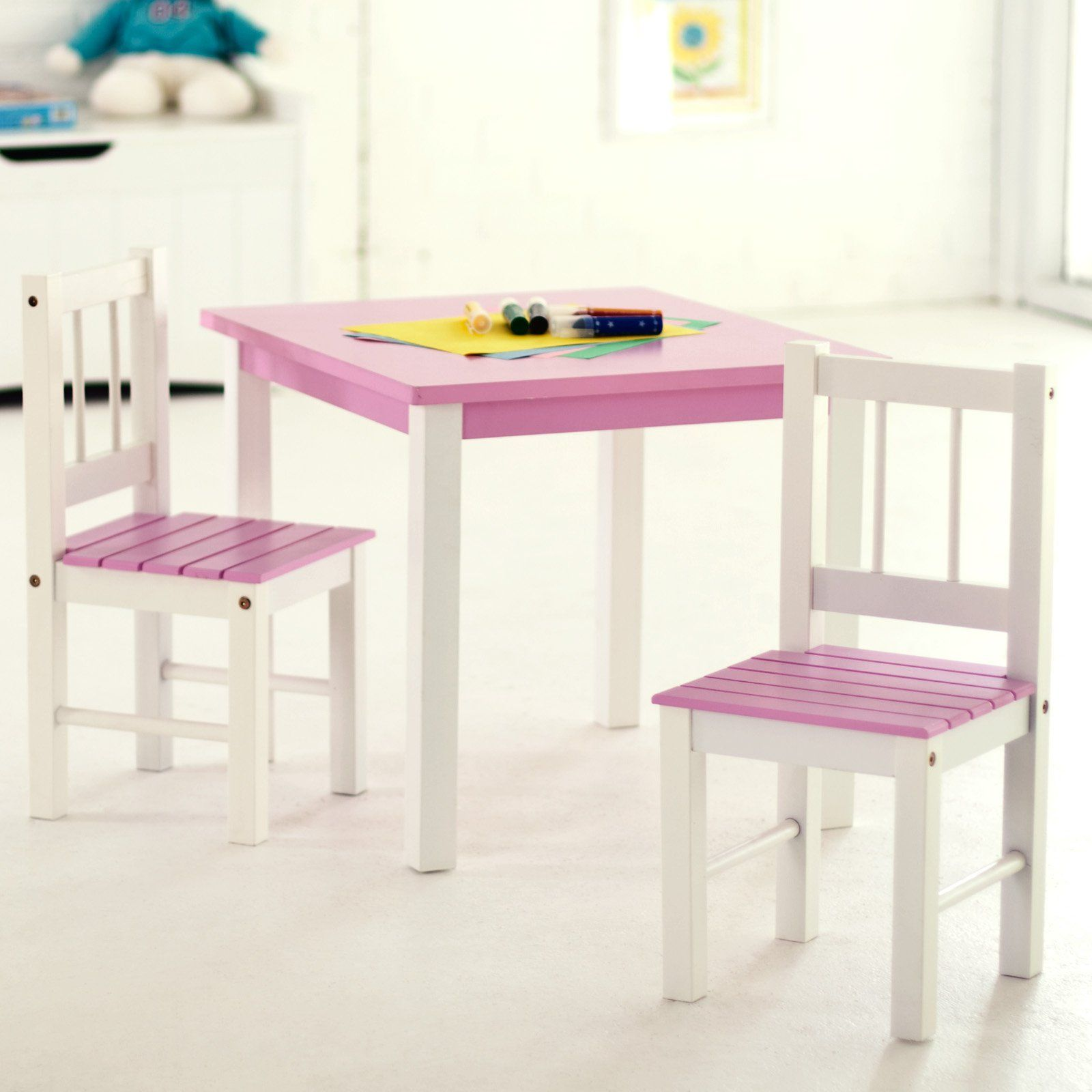 Lipper Kids Table and Chair Set Pink Table and Chair Set Hardwood Table Chair Set Kids Table Chairs Set  sc 1 st  Pinterest & Pin by Dawn Wyant on Kyndal christmas | Pinterest | Children ...