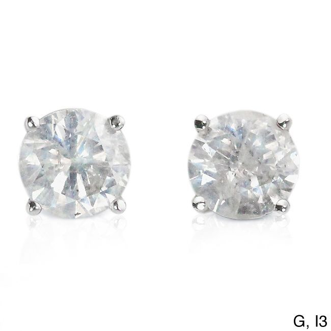 Auriya Platinum 1 2ct Tdw Clarity Enhanced Diamond Stud Earrings Ping The Best Deals On