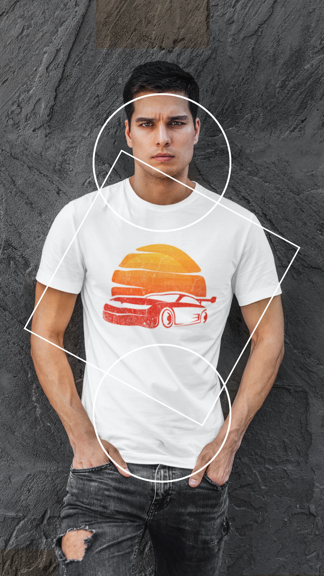 T-Shirt Cars Fan Racing Driver American Muscle Car Speed Lover Tee