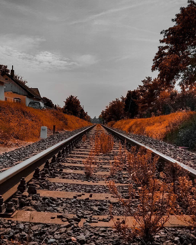 Follow Your Dream Perspective View Landscapephotography Landscape Train Rails Trainrails Ironrailing Iron City Landscape Photography City Landscape