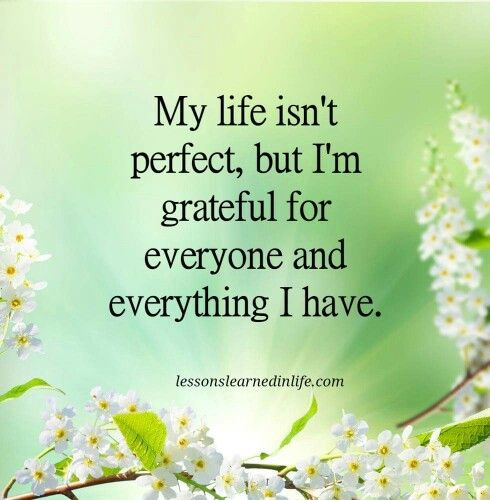My Life Isn T Perfect But I M Grateful For Everyone And Everything I Have Lessons Learned In Life Interesting Quotes Inspirational Quotes Collection