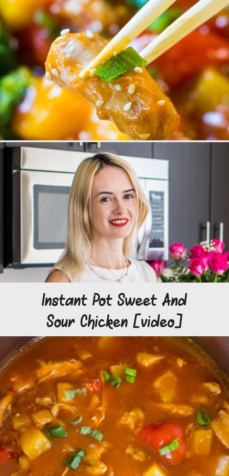 Instant Pot Sweet and Sour Chicken is a flavorful, restaurant quality meal made simple and easy in your pressure cooker in just 30 minutes!   #AsianNoodles #AsianFace #AsianPeople #AsianGuys #AsianIllustration
