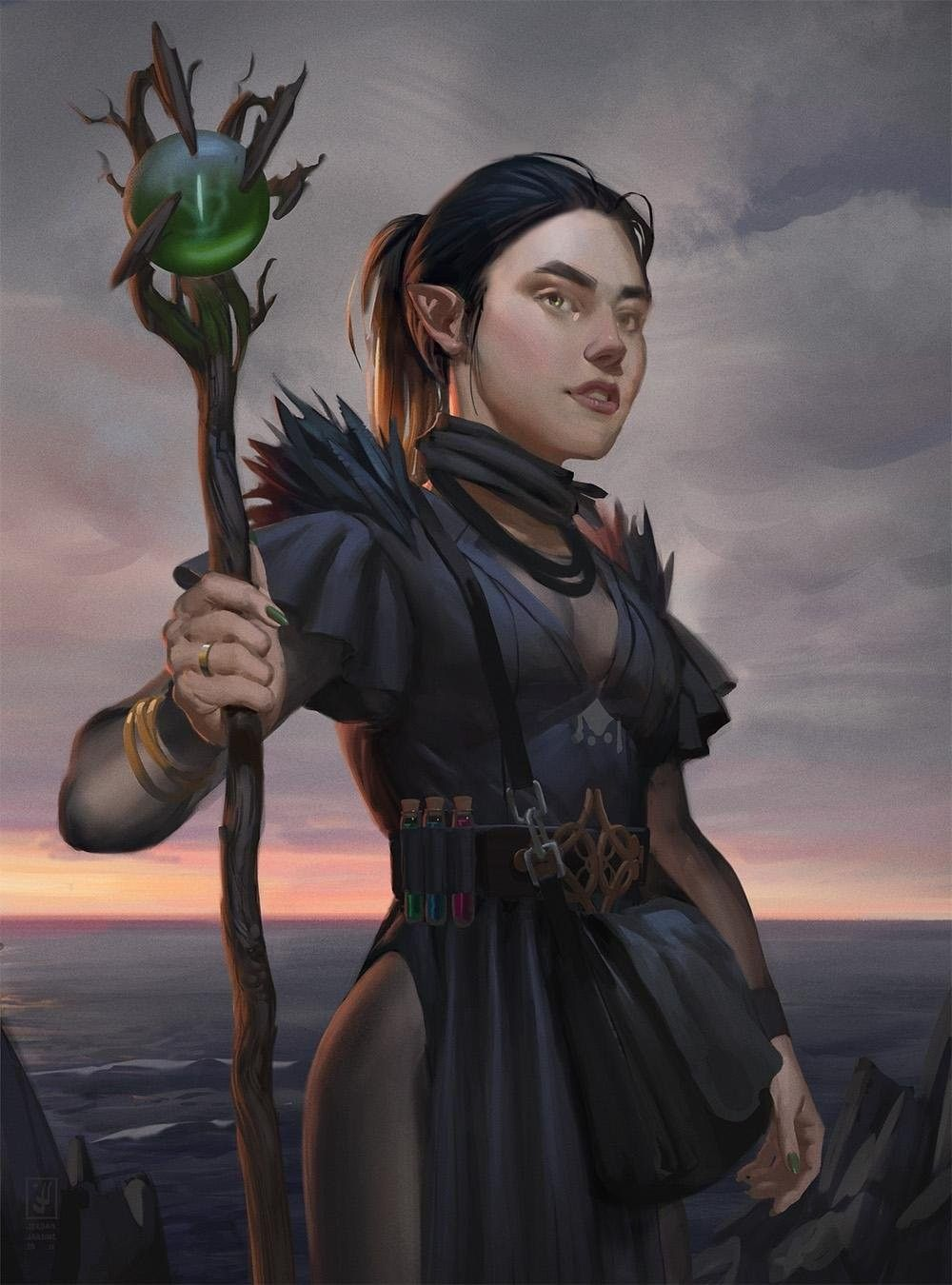 Pin By Joren Skov On Mages And Wizards Fantasy Magician Female Wizard Female Elf