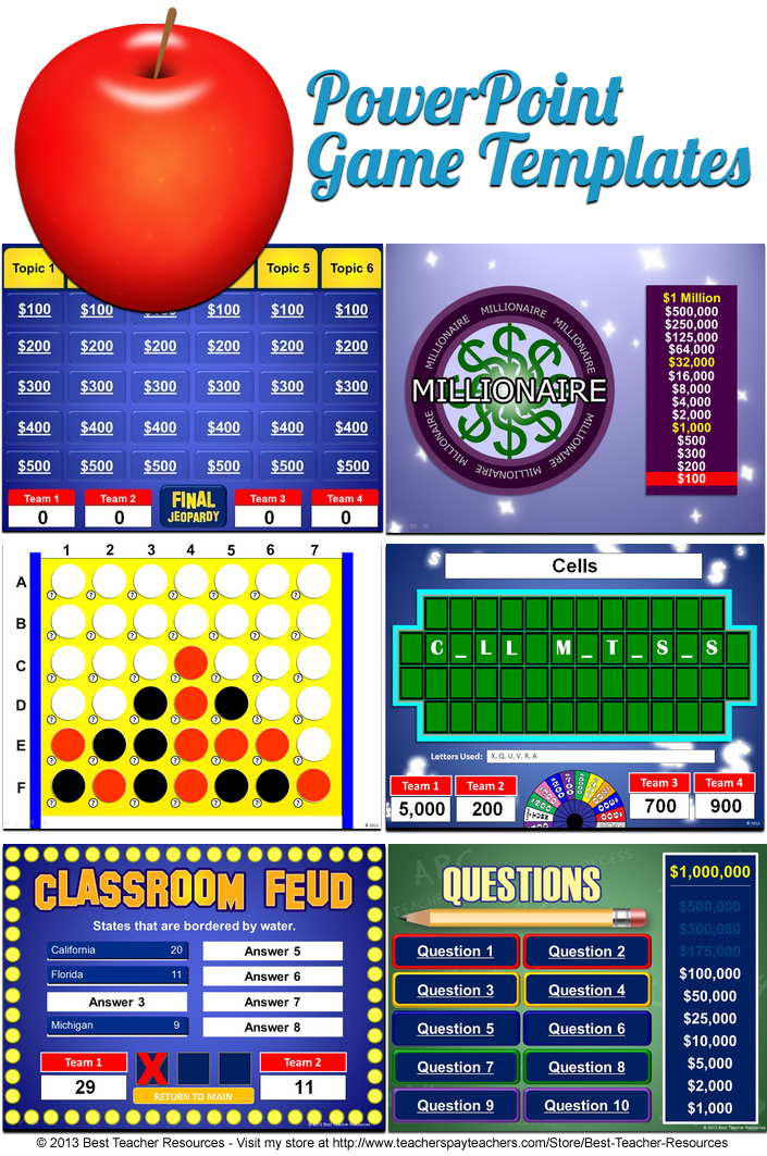 Powerpoint Game Templates Teacher Tools And Signs Pinterest