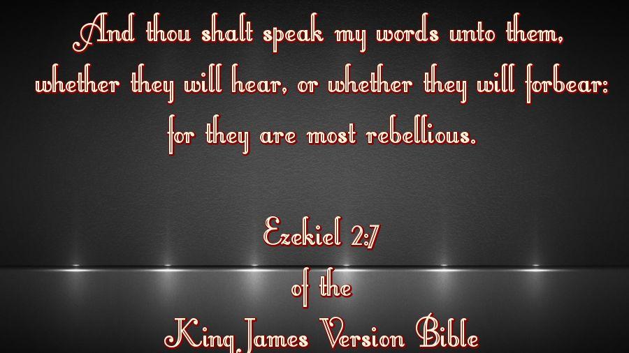 in ezekiel 2 7 10 we see the lord is sending ezekiel who in ezekiel 2 7 10 we see the lord is sending ezekiel who represents