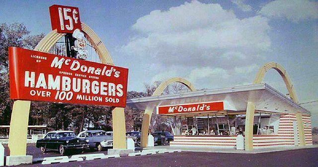 1960 S Colorado Springs Mcdonalds Vintage Restaurant Road Trip Usa