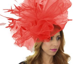 1bfa9e32eed26 Floradora Orange Fascinator Hat for Weddings