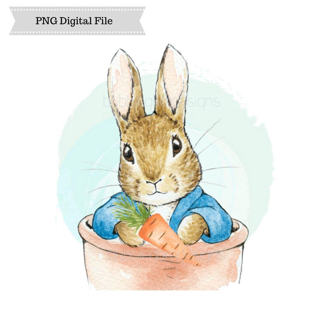 Peter Rabbit Png Sublimation Design Easter Bunny Design Digital Download Printable A Peter Rabbit Illustration Rabbit Illustration Peter Rabbit And Friends