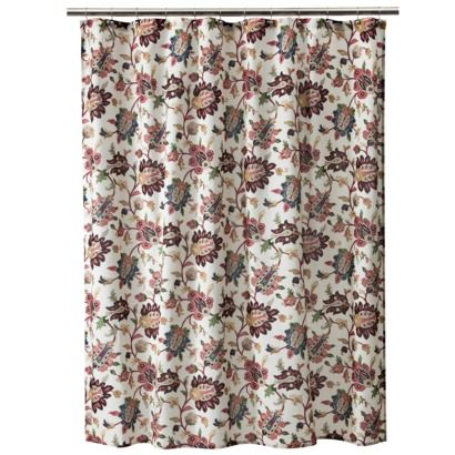 Spice Jacobean Shower Curtain Target 1999