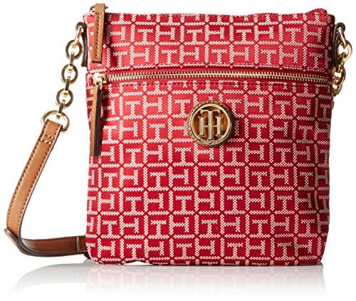Tommy Hilfiger Web Jacquard Cross Body, Red/Cream, One Size ** Click here for more details @