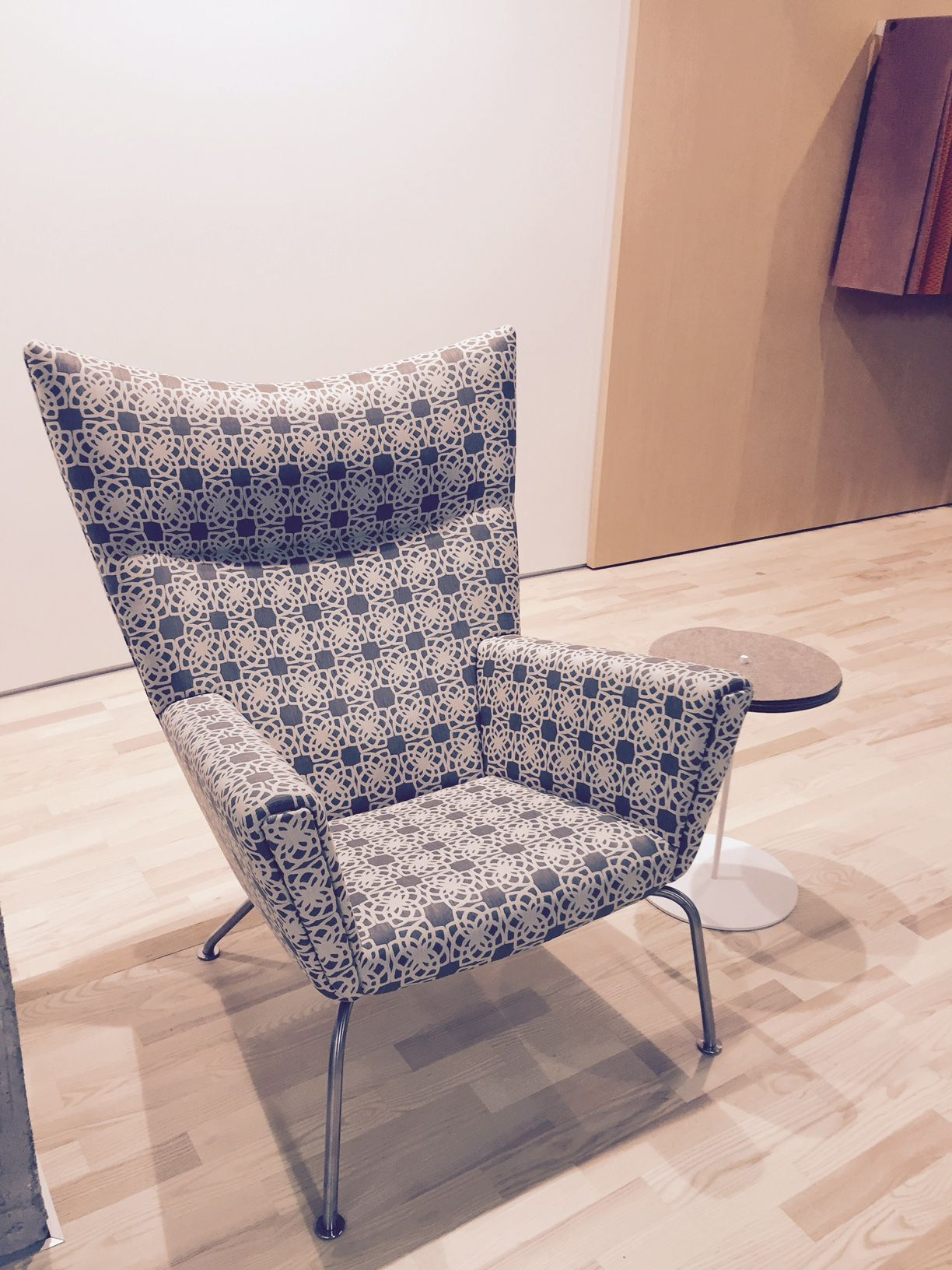 Coalesse Wing Chair in Designtex Lattice Upholstery Wing