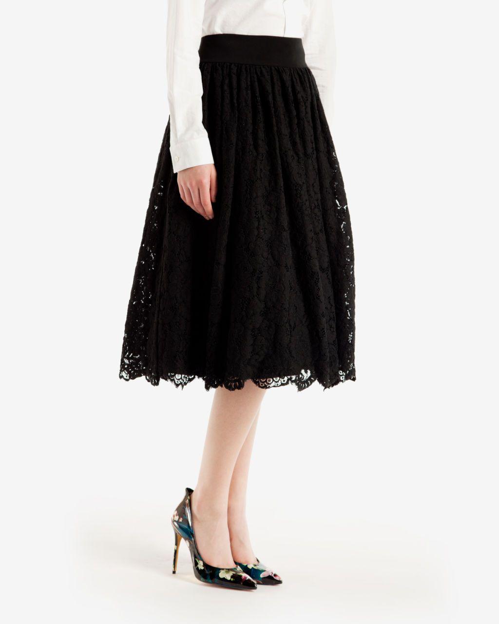 23559da7f949 Lace ballerina midi skirt - Black