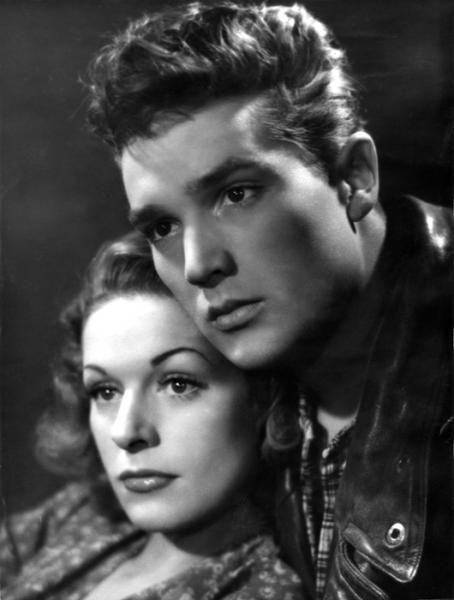 """Émile Savitry - """"Lumière d'été"""" Jean Grémillon's movie, 1942.Georges Marchal (Julien) and Madeleine Robinson (Michèle)"""