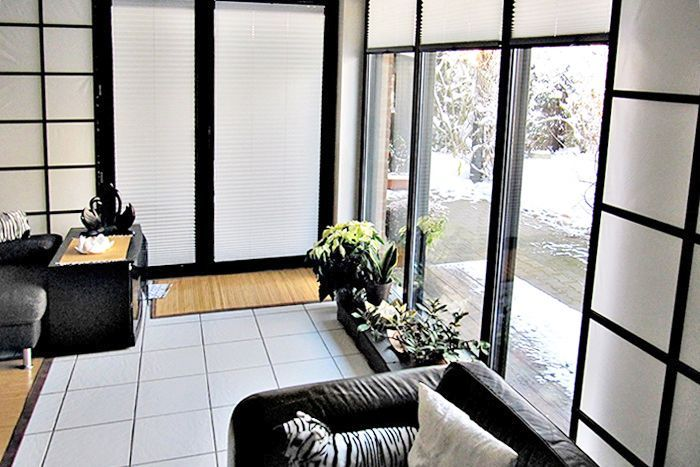 Plissee Wohnzimmer ~ Schwarzweiß blackandwhite wohnen plissee lass deiner