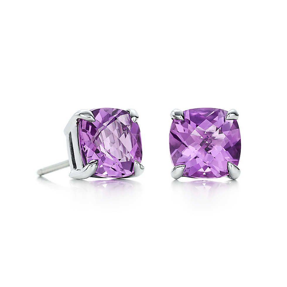 Tiffany Sparklers Amethyst Earrings In Sterling Silver Co Except Gold
