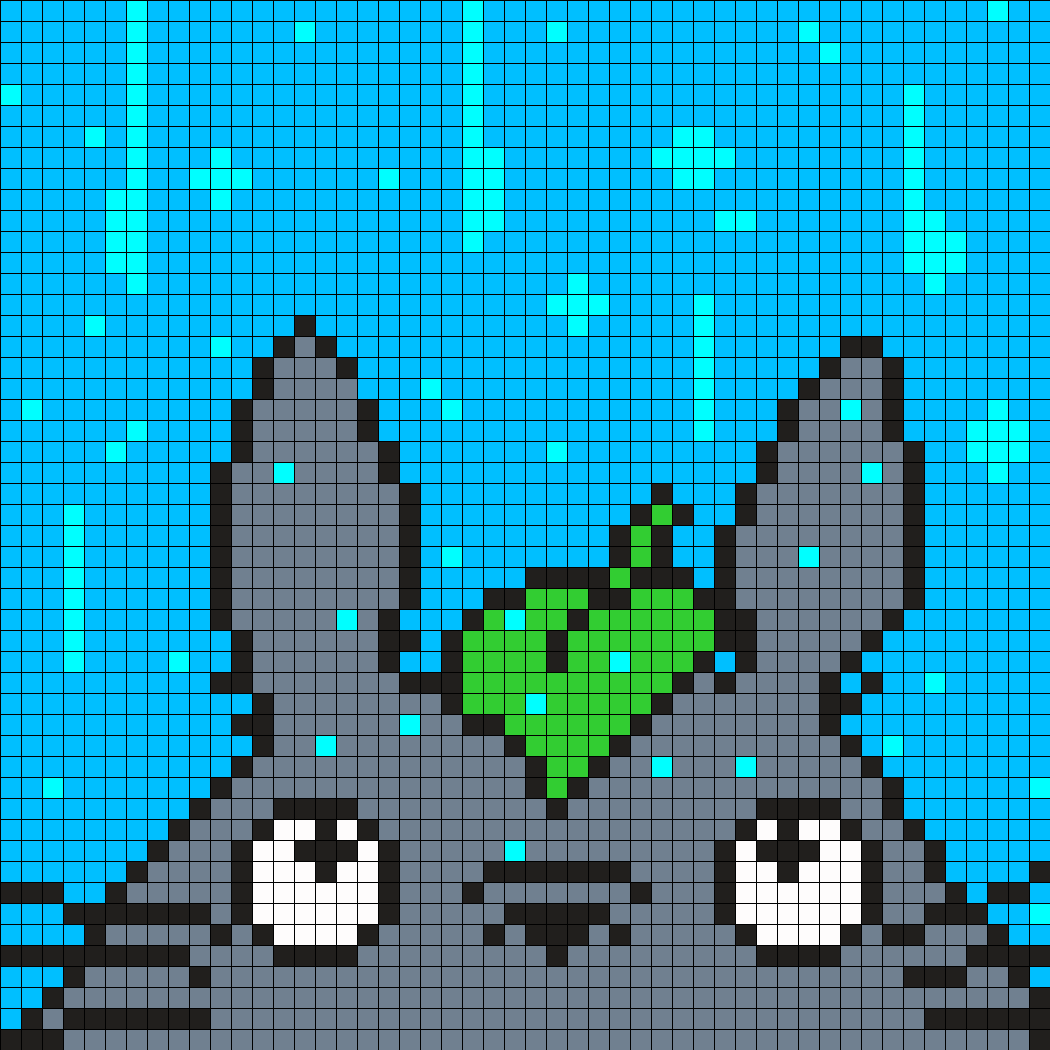 Totoro in the Rain Perler Bead Pattern | Winter is coming - knit ...