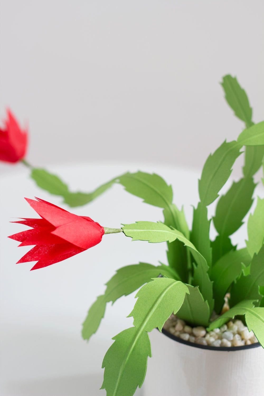 Paper Christmas Cactus | Oragami | Pinterest | Diy paper, Paper and ...