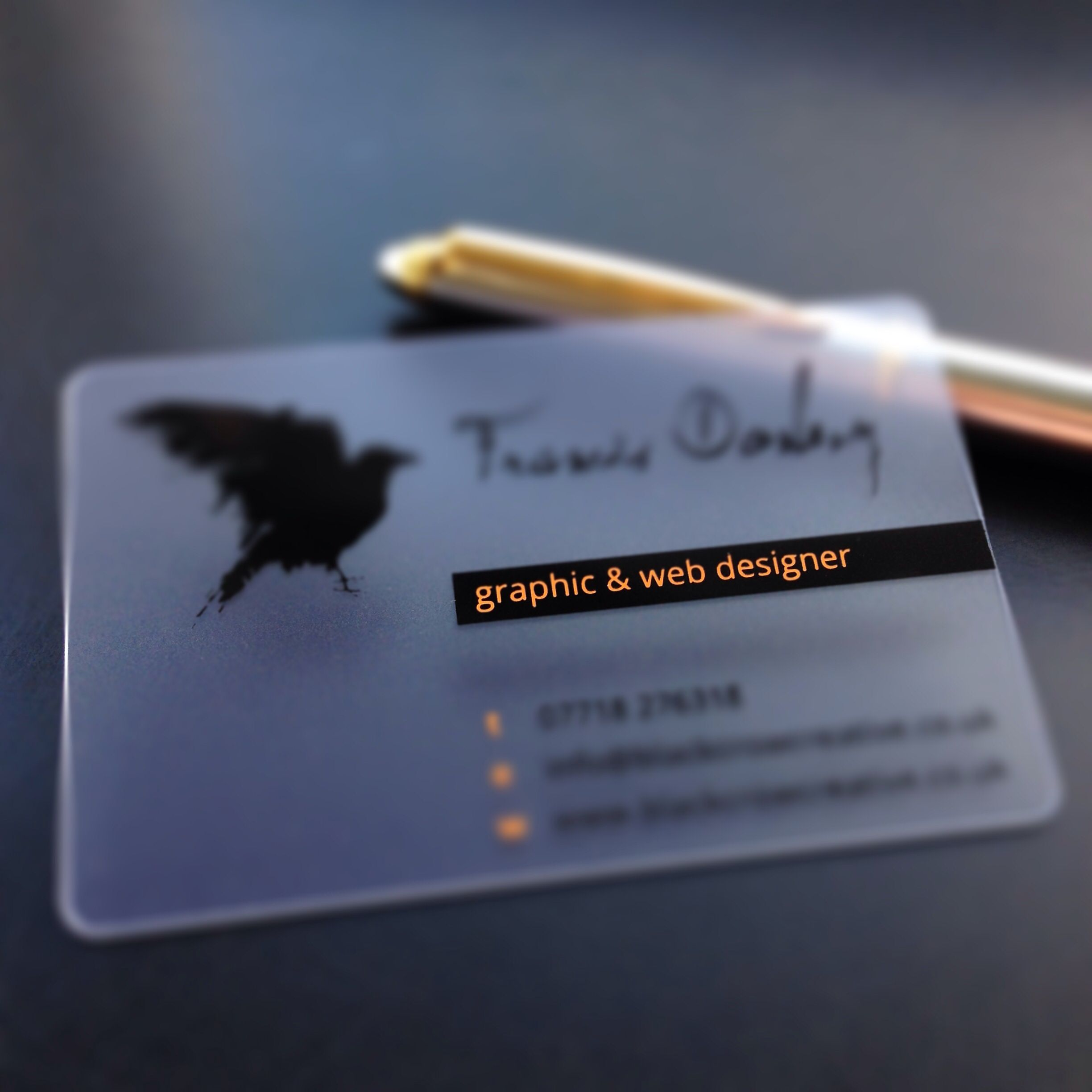 A frosted plastic business card | Plastic Business Cards | Pinterest ...