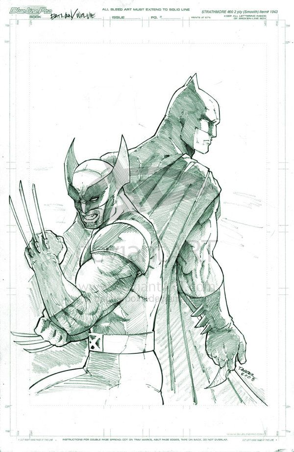 Batman and Wolverine by *DaggerPoint on deviantART