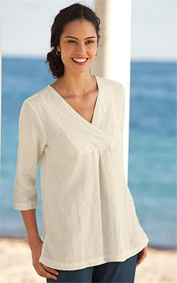 Just found this Long Linen Tunic Shirt - Crinkle-Linen Tunic -- Orvis on Orvis.com!