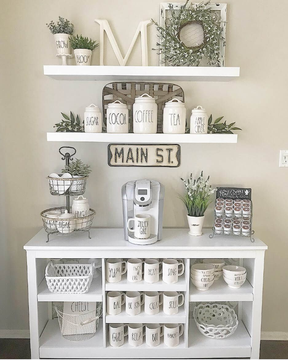 21 Charming DIY Coffee Station Ideas for All Coffee Lovers #coffeebarideas