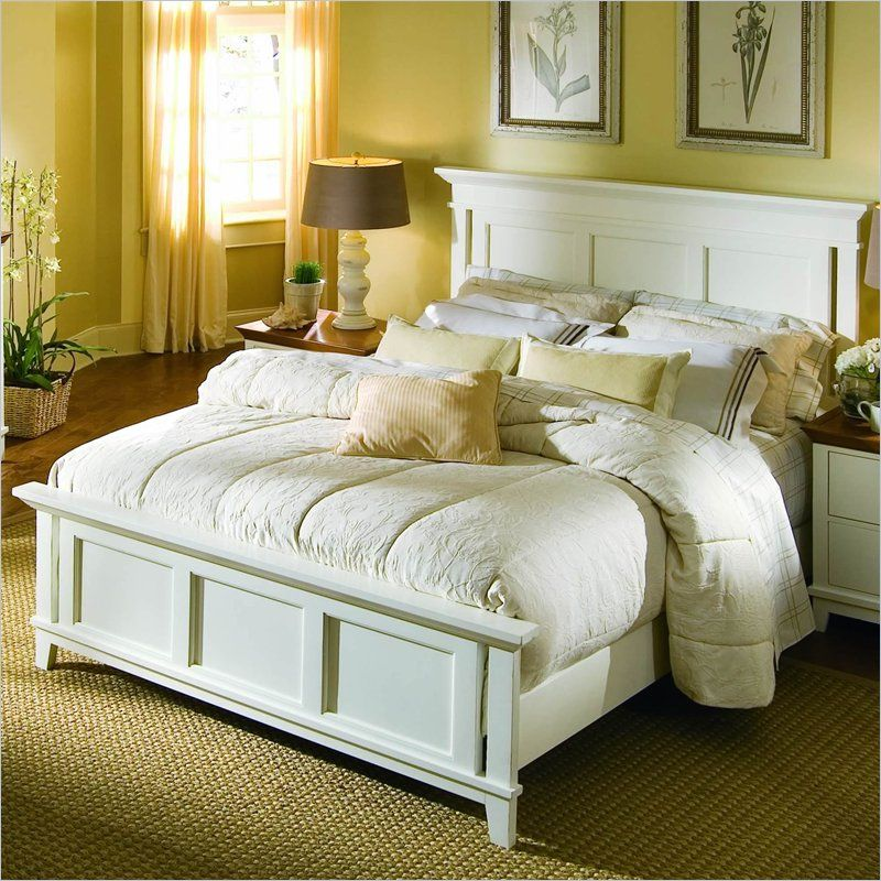 American Drew Sterling Pointe Panel Bed in OffWhite