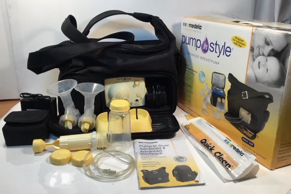 Medela Pump In Style Advanced T W Shoulder Bag And Extras