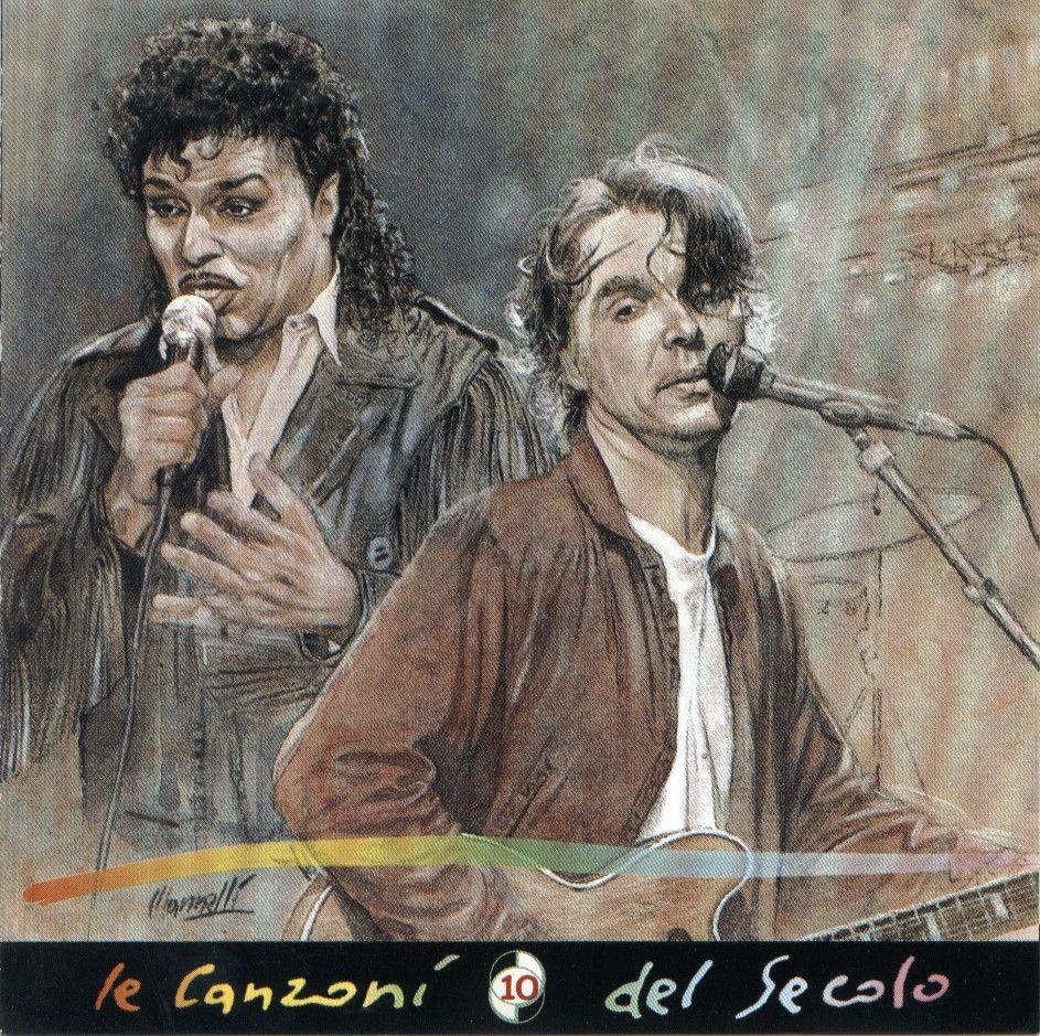 Riccardo Mannelli (1955). Little Richard (1932) e David Byrne (1952) [Le Canzoni Del Secolo vol.10, ed. La Repubblica 1999]