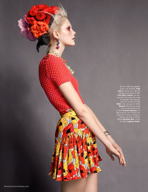 7674c87c3 Dani Seitz In Candy Colour Photographed By Benjamin Kanarek For VOGUE  Portugal, April 2012