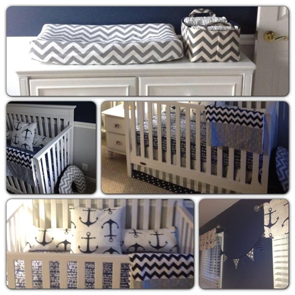 Baby Nash S Vintage Nautical Nursery: Project Nursery - Nautical Navy And Grey