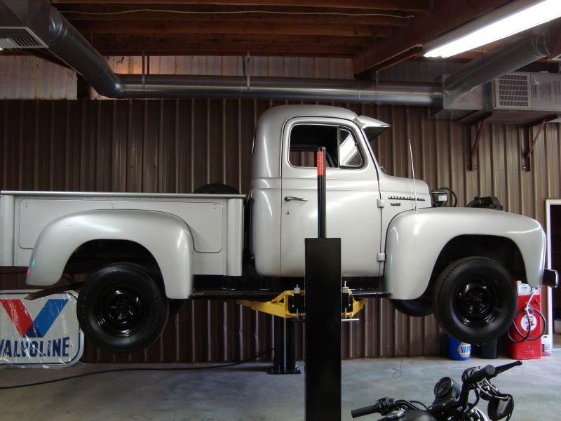 sweet truck on a MaxJax Garage lift, Portable car lift