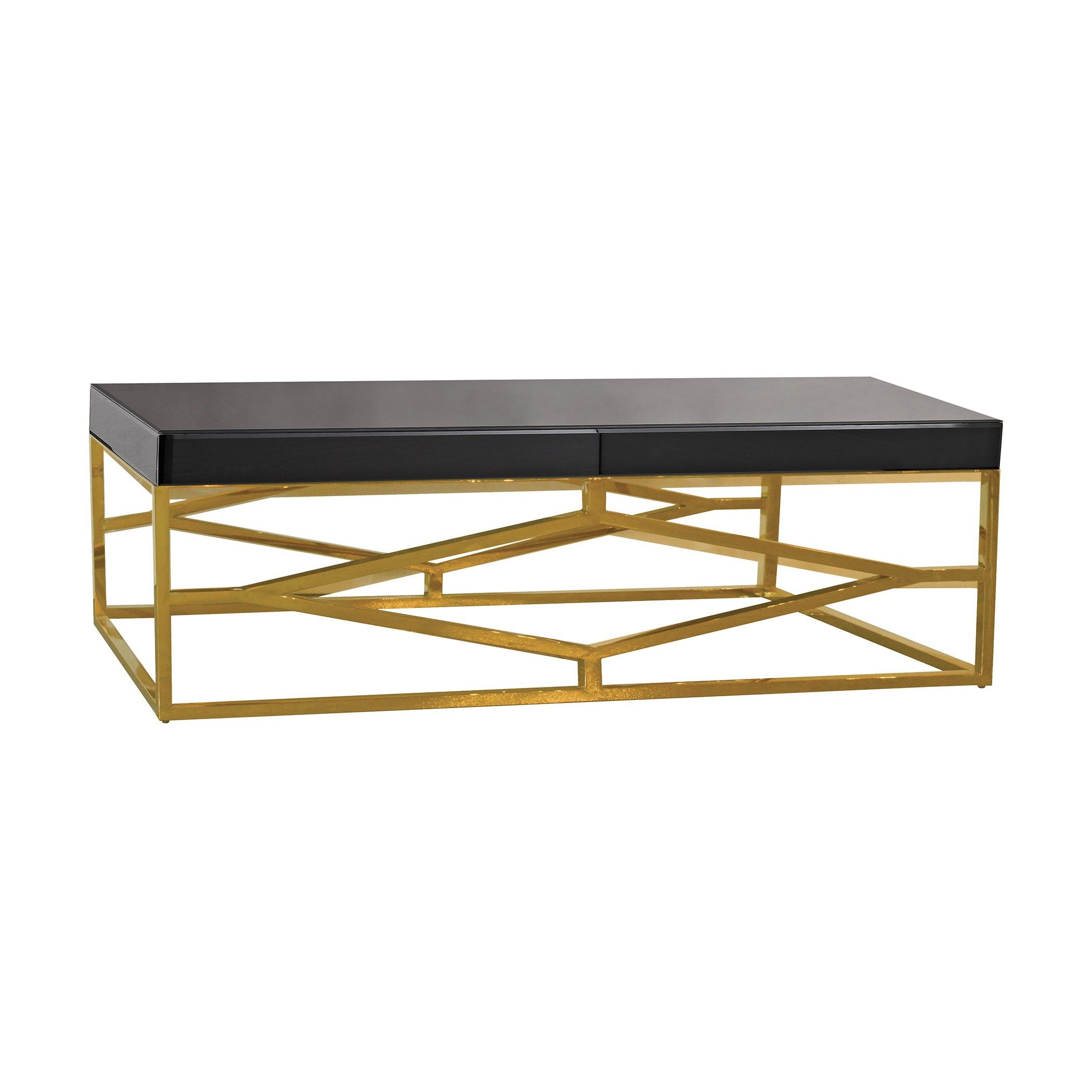 Darcine Coffee Table Black And Gold Gold Coffee Table Coffee Table Black Coffee Tables